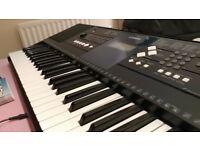 Yamaha PSR E333 Electronic Keyboard with Power Supply & Learn Piano Book