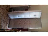 SOFA BED silver faux leather foldable Hounslow near train station