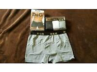 New mens boxers D&G 3colors