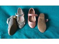 2 pairs girls size 9uk/27eur party shoes