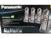 Panasonic quad home phone with answer phone