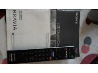 Sony lcd digital colour flat screen tv portable