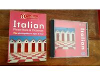 Collins Italian phrasebook dictionary and CD