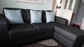 Corner Fabric Chaise Sofa (Reversible.) NEW