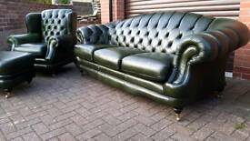 Chesterfield style, Thomas Lloyd 3 piece suite. EXCELLENT CONDITION!BARGAIN!