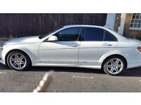 Mercedes benz C class c320 cdi sport 4 door amg white 71k milege 08 plate top condition