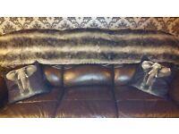 Brown Leather Sofa Swap.