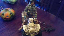 Action man and quad and accessories