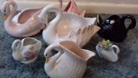 ornaments. Swan planters