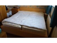 Super king size ikea malm bed.