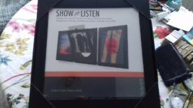 SHOW & LISTEN. Vinyl record display frame X 3. Boxed, unopened and as new.