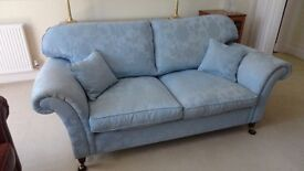 Laura Ashley Large 2 Seater Mortimer Sofa in Cornflower Blue