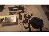 Canon EOS 100D Get closer kit with strap, canon bag and telescopic stand