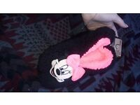 Minnie Mouse slippers - Primark. New with tags. Adult 6-8