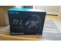 NEW Logitech G29 Driving Force Racing Wheel and pedals