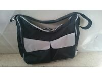 Black and grey Boots Parenting Club changing bag