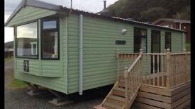 Caravan for hire at Clarach bay