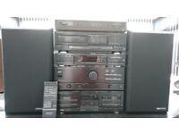KENWOOD HIFI SEPERATES REMOTE,TURNTABLE,CD,TUNER,AMP,TAPE,3 WAY SPEAKERS