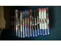 collection of breand new DVD box sets, ps4 games, x box 1 games, ps3 games 100's dvds & 100,s CDs
