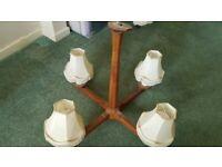 Oak Ceiling Light Fixings/Chandeliers