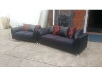 SUPER SALE BUY 3 SEATER £325 GET 2 SEATER TOTALLY FREE HAND MADE IN GOLD AND RED FABRIC