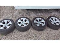 Bmw f30 alloy wheels & tyers 16in