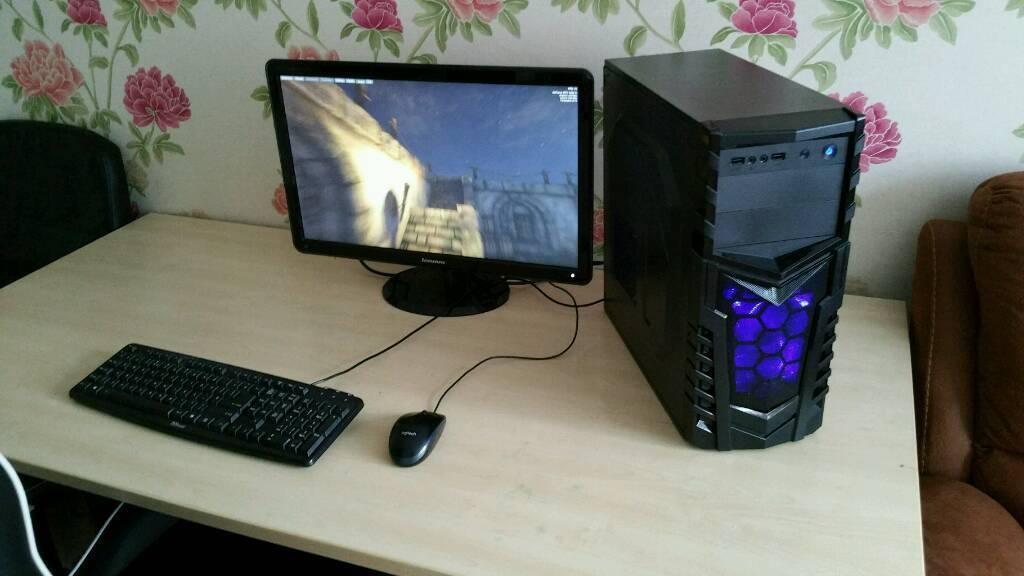 Custom i5 3470 Gaming PC - RX 550 - 500w PSU - WiFi - Windows 10 PRO