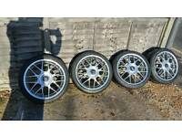 BBS RC323 7.5x17 ET35 4x100 in mint condition with excellent tyres, VW, Mini, Bmw, Vauxhall
