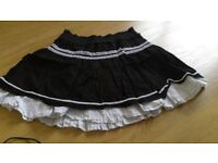 Black and white Ra Ra skirt