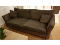 2 Seater Modern Fabric Sofa - Brown/Chocolate- PRICE REDUCED!!