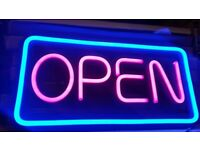 Open Shop Sign LED Neon Super Bright AC Powered (NEW)