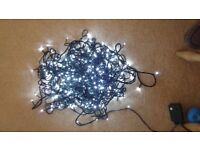 Inside/Outside 400 LED Fairy Lights 50m Cable New
