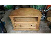pine TV cabinet one draw
