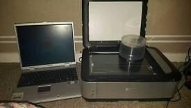 Laotop and printer