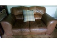 Leather 3+2 seater sofas