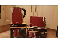 Brand new not been used russell hobbs toaster and kettle.