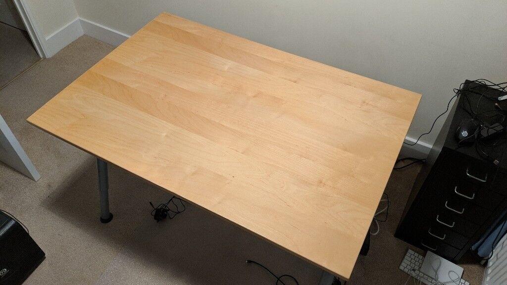 Ikea Galant Desk 120cm X 75cm Birch