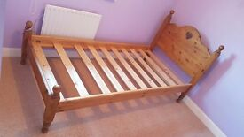 Girls solid pine single beds, matching pair, £90 for both or £50 for one