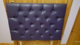 Single bed purple headboard, IN Great condition ONO