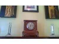 "Rare Galway Crystal Candlesticks 8"" pair- still in original box"