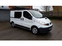 Renault Trafic 6 Seater Crewcab 2007 Panel Van same as Vauxhall Vivaro Crewvan