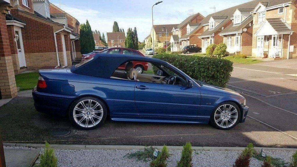 bmw e46 330ci convertible topaz blue in peterborough. Black Bedroom Furniture Sets. Home Design Ideas