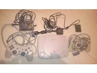 PSone plus games and 2 controlers. memory card.