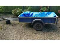 Long Galvanised Trailer