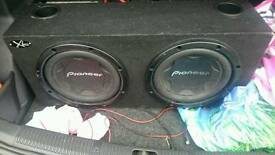 "PIONEER 12"" TWIN SUBS IN BOX"