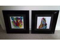 Patrice Murciano art and frames zebra and tiger