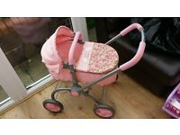Baby Annabell dolls pram carry cot