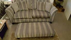 Parker and knoll 3x2 seater sofa and footstool