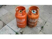 2 shell 12kg gas bottles no deposit 25 pound each