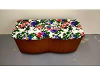 Vintage ottoman storage blanket box